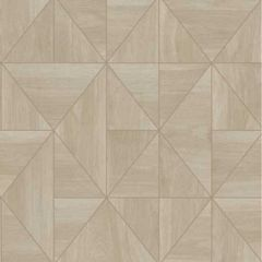 2896-25323 Cheverny Wood Tile Beige Brewster Wallpaper