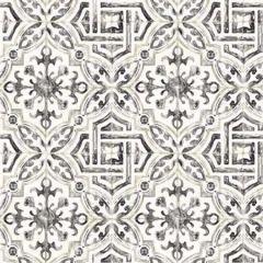 2904-12331 Sonoma Spanish Tile Charcoal Brewster Wallpaper