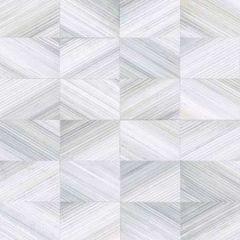 2904-25376 Stratum Geometric Faux Wood Light Blue Brewster Wallpaper