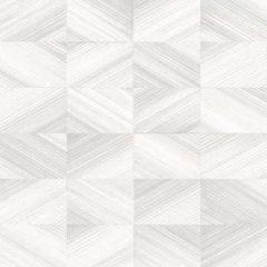2904-25378 Stratum Geometric Faux Wood Light Grey Brewster Wallpaper
