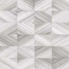 2904-25379 Stratum Geometric Faux Wood Grey Brewster Wallpaper