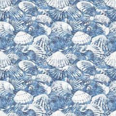 2904-25691 Surfside Shells Blue Brewster Wallpaper