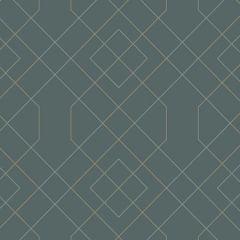 2964-25911 Ballard Geometric Teal Brewster Wallpaper