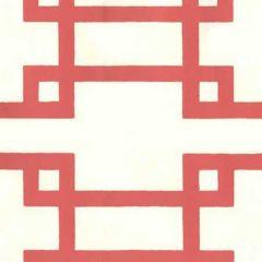 300403OWP BRIGHTON Orange On Off White Quadrille Wallpaper