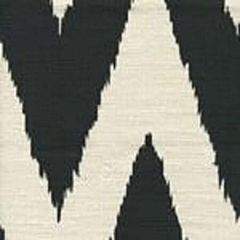 302507F TASHKENT Black on Heavy Linen Quadrille Fabric