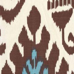 302830C-04 KAZAK Tobacco French Blue Quadrille Fabric