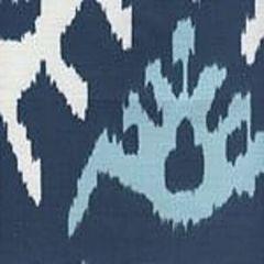 302830C-05W KAZAK New Navy Denim Blue on White Quadrille Fabric