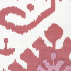 302830C-06W KAZAK Orange Pink on White Quadrille Fabric