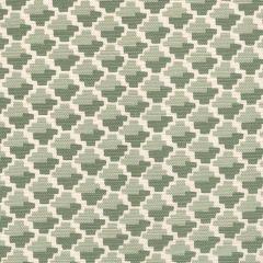 303720F-02 IL GIOCO Silver/Green on Light Tint Quadrille Fabric