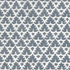 304045F VOLPI Slate on Navy Tint Quadrille Fabric
