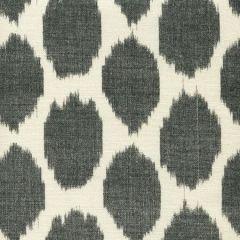 306112F ADRAS Black on Tint Quadrille Fabric