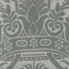 306161F CORINTHE DAMASK Dark Grey on Light Grey Quadrille Fabric