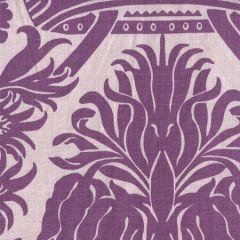 306162F CORINTHE DAMASK Purple on Lilac Quadrille Fabric