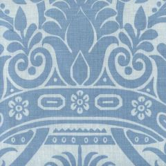 306163F CORINTHE DAMASK Windsor Blue on Light Blue Quadrille Fabric