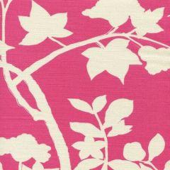 306187F HAPPY GARDEN BACKGROUND Magenta on Tint Quadrille Fabric