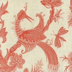 306204F PARADIS Orange on Tint Quadrille Fabric