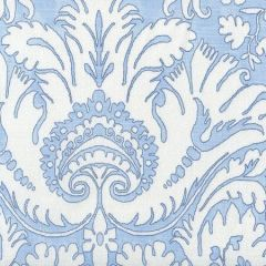 306241FWC BORGHESE Navy Sky Blue on White Quadrille Fabric
