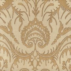306243F-CU BORGHESE Camel Taupe Brown on curtain weight Quadrille Fabric