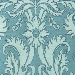 306246F BORGHESE Navy Pale Blue Soft Aqua on Tint Quadrille Fabric