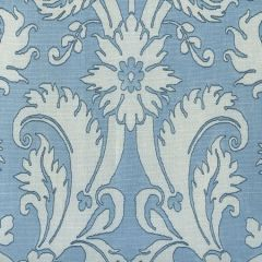 306247F BORGHESE Navy Windsor Blue Sky on Tint Quadrille Fabric