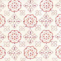 306305W CRAWFORD Multi Red Terracotta On Almost White Quadrille Wallpaper