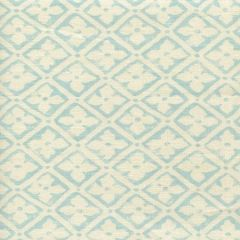 306330F-03 PUCCINI Venice Blue on Tinted Linen Quadrille Fabric