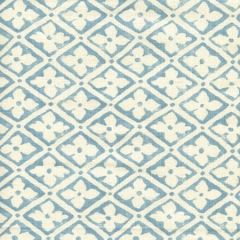 306330F-04 PUCCINI Windsor Blue on Tinted Linen Quadrille Fabric