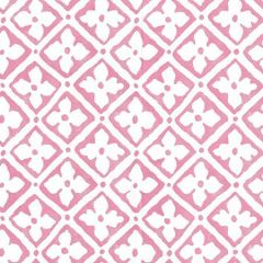 306330W-02 PUCCINI Pink On Almost White Quadrille Wallpaper