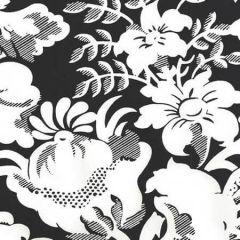 306591W DES GARDES REVERSE Black On Off White Quadrille Wallpaper