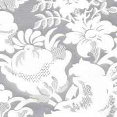 306592W DES GARDES REVERSE Silver Metallic On Off White Quadrille Wallpaper