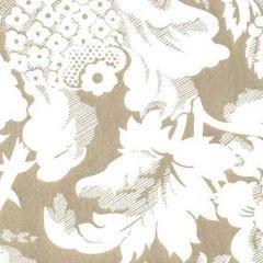 306593W DES GARDES REVERSE Gold Metallic On Off White Quadrille Wallpaper
