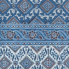 306610F-01 LORENZO STRIPE Multi Agean Blue Black Quadrille Fabric