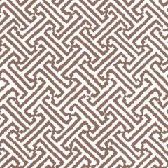 3080-15WP JAVA JAVA Brown On White Quadrille Wallpaper