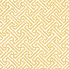 3080-19WP JAVA JAVA Yellow On White Quadrille Wallpaper