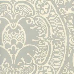 352000W-03OWP VENETO Gray On Off White Quadrille Wallpaper