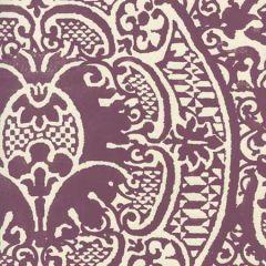 352000W-26OWP VENETO Plum On Off White Quadrille Wallpaper