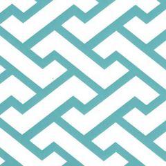 6340-07WP AGA Turquoise On Almost White Quadrille Wallpaper