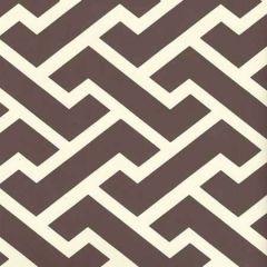 6345-09WP AGA REVERSE Brown On Off White Quadrille Wallpaper