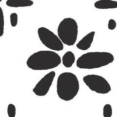 6380-15WP WILDFLOWERS II Black On White Quadrille Wallpaper