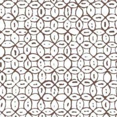 6450-07WWP MELONG BATIK Brown On White Quadrille Wallpaper