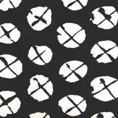 6655WP-10 OBI II REVERSE Black On Almost White Quadrille Wallpaper
