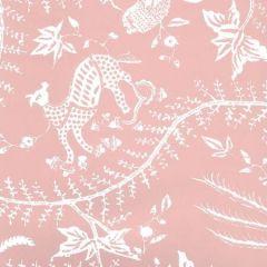 6780WP-06W CIREBON REVERSE Old Pink On White Quadrille Wallpaper