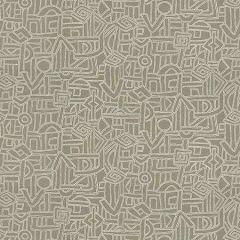 HIEROGLYPHICS Linen Fabricut Fabric