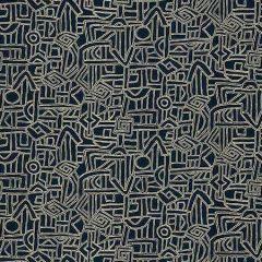 HIEROGLYPHICS Midnight Fabricut Fabric