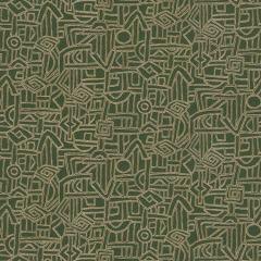 HIEROGLYPHICS Leaf Fabricut Fabric