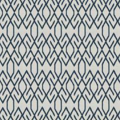 DEMPSEY Navy Fabricut Fabric