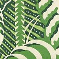 AC100-11 FERNS Greens on Tint Quadrille Fabric