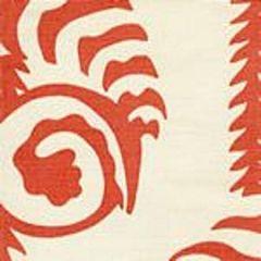 AC101-34 FERNS UNI New Shrimp on Tint Quadrille Fabric