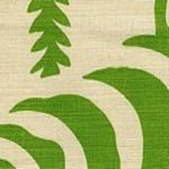 AC101-37 FERNS UNI Jungle Green on Tint Quadrille Fabric
