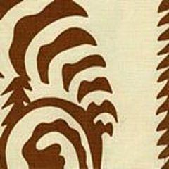 AC101-38 FERNS UNI Cinnamon on Tint Quadrille Fabric